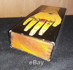1950's Piero Fornasetti Hand Box, Metal, Mahogany, 7 7/8 x 3 x 1 1/2