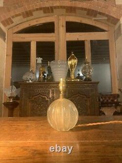 1950s MURANO ARCHIMEDE SEGUSO BULLICANTE BUBBLE GLASS LAMP, GOLD LEAF VINTAGE