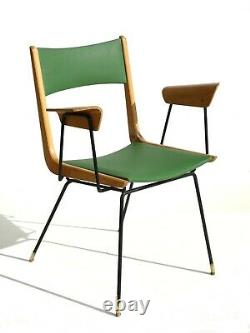 1950s by Carlo De Carli Italian Midcentury modern design played wood chair