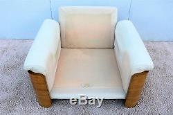 1960's Vintage Italian Rossi di Albizzate Burlwood Lounge Chair for Casa Bella