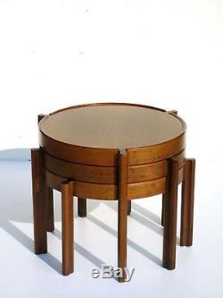 1960s Italian Design Wood Nasting Coffee Tables midcentury ico parisi
