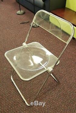 4 70's Giancarlo Piretti Castelli Italian Plia Folding Chairs
