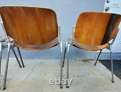 4 Mid Century Modern Italian DSC 106 Chairs by Giancarlo Piretti for Castelli