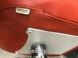 ARPER Italian Swivel Chrome Pod Egg Vintage Modern Chairs Dark Orange