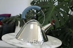 Alessi Bird Kettle Mod. 9093 by Michael Graves Whistling Tea Kettle Eames Era