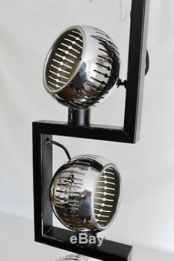 Arredoluce Lelli Vtg Mid Century Italian Modern Chrome Eye Ball Floor Lamp Italy