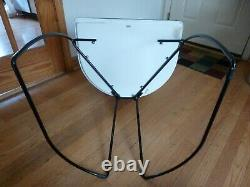 Brown Leather Steel Cantilever Arrben Italy Chair Mid-Century Modern