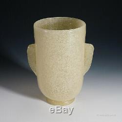 Carlo scarpa''a bollicine'' glass vase for venini ca. 1932