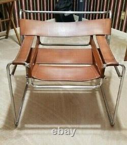 Cognac Wassily B3 chair by Marcel Breuer, 1968 Original, Rare
