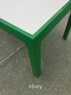 Collectible mid-century modern mod Eames Era Kartell green plastic table by Bohr