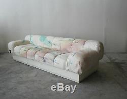 Custom Oversized Post Modern Italian Sofa on Plinth Base Bellini Style