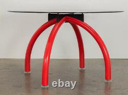 Ettore Sottsass Red Spyder Dining Table