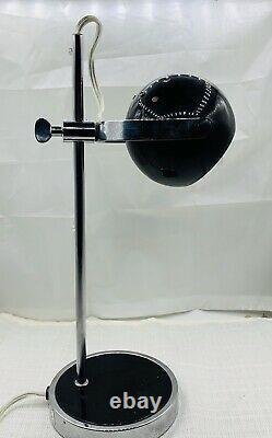 Eyeball Metal Table-Desk Lamp / Targetti Sankey Style / Vintage Atomic Orb