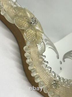 FAB! Mid 20th Century Venetian Murano Glass Table or Wall Vanity Mirror