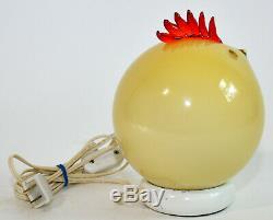 Formia Vetri di Murano Italian Glass Yellow Chicken Rooster Lamp Light Sculpture