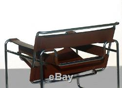 GAVINA Wassily B3 chair Marcel Breuer 50s 60s design with label