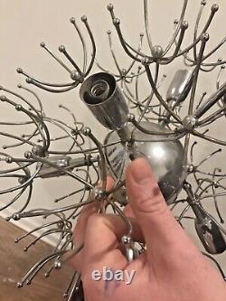 Gaetano Sciolari Sputnik Ball Pendant Lamp Vintage Chrome Dandelion 1960`s MCM