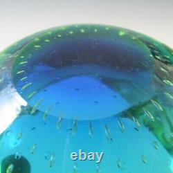 Galliano Ferro Murano Uranium Green Glass Bullicante Bowl