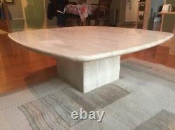 Genuine Mid-Century Italian Travertine Coffee Table Ello
