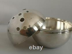 Gio Ponti design Christofle Gallia Mars box flower holder silverplated vase