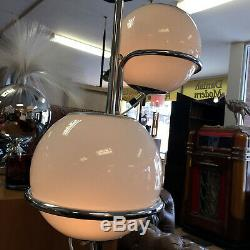 Goffredo Reggiani Italian Chrome and Glass Ball Floor Lamp Mid Century Modern