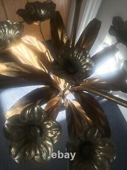 Hans Kogl 50s 60s Gold Gilt Flower Side Table, mid century Modern