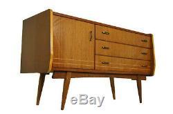 High gloss two tone Mid Century Credenza or dresser, Italian style retro