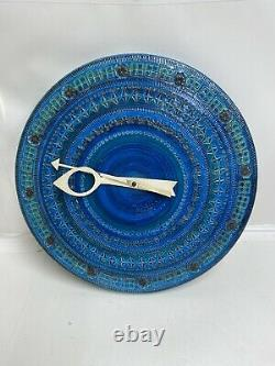 Howard Miller 1974 Meridian Ceramic Wall Clock #7552 George Nelson Bitossi Italy