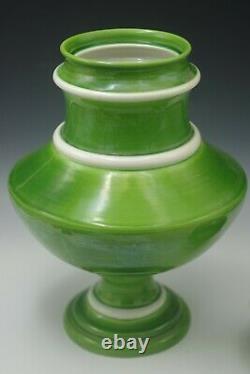 Huge 16 Raymor Mancioli MID Century Italy Apothecary Jar Vase Urn Lime Green
