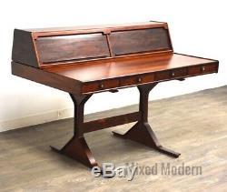 Italian Gianfranco Frattini Bernini Mid Century Modern Rosewood Desk