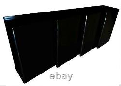 Italian High Gloss Piano Lacquer Long Sculptural Credenza Post Modern Cabinet