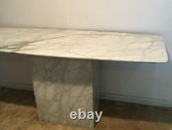 Italian Marble Mid Century Modern Vintage Console Table