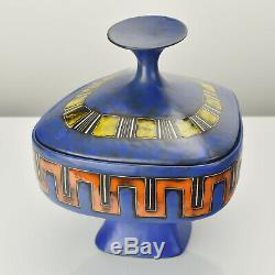 Italian Mid Century Modern Lidded Pottery Box Object by Marcello Fantoni Raymor