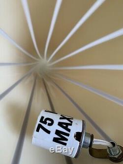 Italian Modern Conical Lamp by Vetri in Striped Murano Glass 24Tall