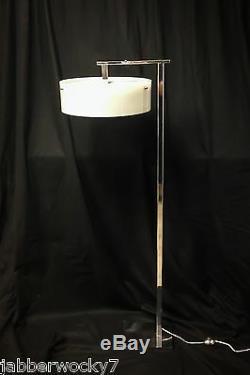 Kurt Versen Style FLIP TOP FLOOR LAMP / 1960's Mid-Century Chrome Italian Italy