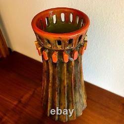 Large Alvino Bagni Brutalist Art Pottery Vase for Raymor 1970's Bitossi era