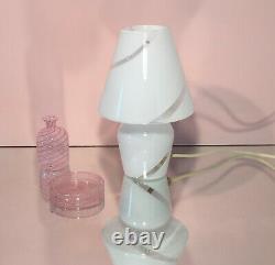 Lovely mushroom lamps blown Murano swirl glass lampada fungo vintage 70s U