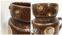 MCM Aldo Londi Rosenthal Netter Bitossi Man Face Vase Mid-Century Silver Gold