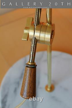 MID Century Modern! Arteluce Marble Desk Lamp! 1950s Sarfatti Atomic Italian Vtg