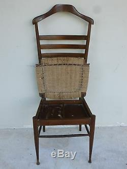 MID Century Modern Gio Ponti Style High Back Italian Valet Chair Sold As Found