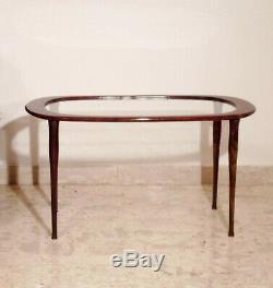 Mid Century Coffee Table 50s Italian Side Oval Cesare Lacca Ico Parisi Gio Ponti