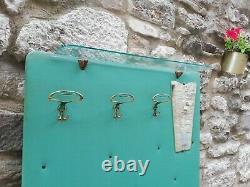 Mid Century Italian Paolo Buffa wall Coat Rack brass & Mirror Italy 1950s