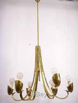 Mid Century Italian Spider Chandelier Pendant Lamp Stilnovo Arteluce Arredoluce