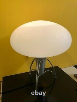 Mid Century Modern Atomic Mushroom Table Lamp Laurel Italian Glass Shade