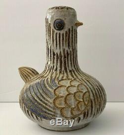 Mid Century Modern Bitossi Raymor Aldo Londi Italy Pottery Bird Sculpture