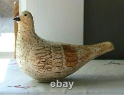 Mid Century Modern Bitossi Raymor Aldo Londi Italy Pottery Bird Sculpture MCM
