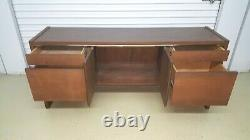 Mid-Century Modern Credenza Desk by Kimball Beautiful Walnut Wood Highly Useful