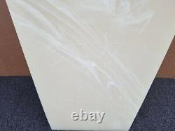 Mid Century Modern Italian Onyx Marble Pedestal Display Stand Table Column