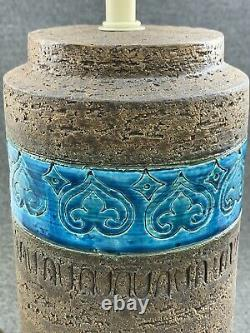 Mid Century Modern Italian Pottery Bitossi Moresco Aldo Londi Table Lamp