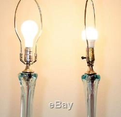 Mid-century Modern Murano Sommerso Glass Lamp By Archimede Seguso Vintage